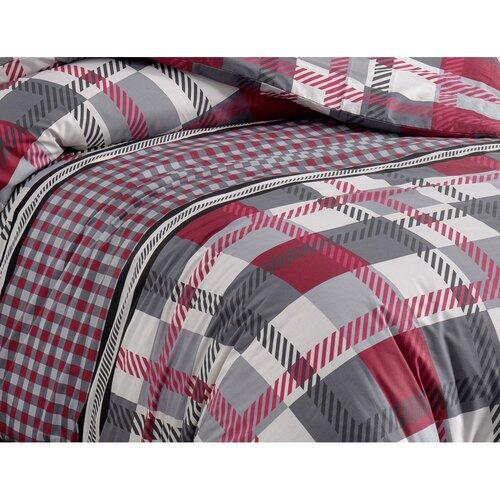 BedTex Hector pamut ágynemű, piros, 220 x 200 cm, 2 db 70 x 90 cm