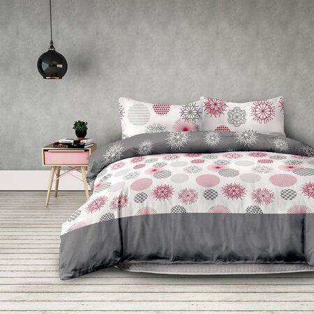 AmeliaHome Flanelové obliečky Flakes, 200 x 220 cm, 2 ks 70 x 90 cm