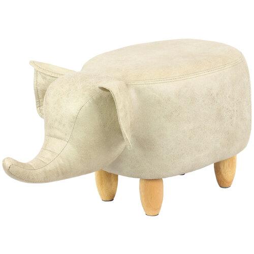 Taboret Słoń, beżowy
