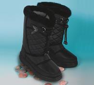 Nepromokavá zimní obuv, černá, 35