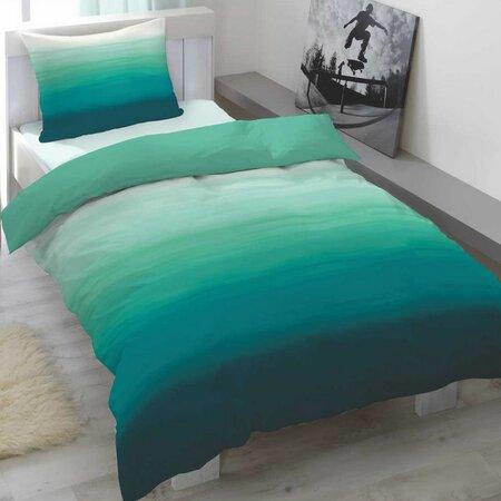 Balayage Szatén ágyneműhuzat zöld, 140 x 200 cm, 70 x 90 cm