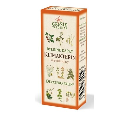 Bylinné kapky Grešík Klimakterin, 50 ml