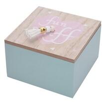 Pudełko dekoracyjne Nadia niebieski, 12 x 12 x 7 cm