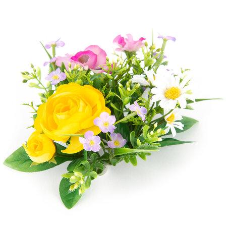 Umělá květina věneček Jarní květiny, pr. 14 cm
