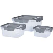 Koopman szögletes műanyag doboz készlet, 3 db-os