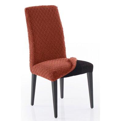 Multielastický potah na celou židli Martin terakota, 60 x 50 x 60 cm, sada 2 ks