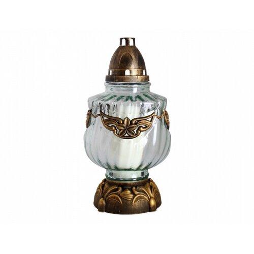 Skleněná lampa s plastickým dekorem Secese