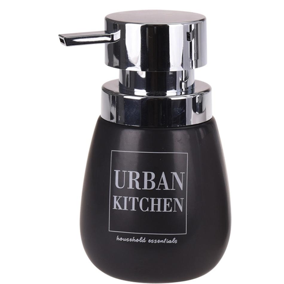 Dozownik na mydło w płynie Urban kitchen, czarny