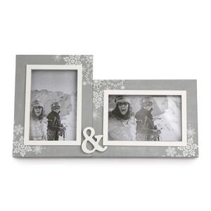 Altom Dvojitý fotorámeček Love Winter 31,5 x 18 cm