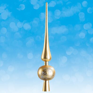 Vánoční špička - zlatá, zlatá