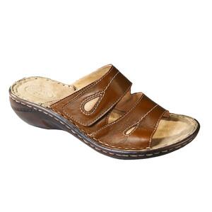 Orto Plus Dámská vycházková obuv na klínku vel. 42 hnědá