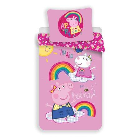 Jerry Fabrics Lenjerie de pat din bumbac pentru copii Peppa Pig 014, 140 x 200 cm, 70 x 90 cm