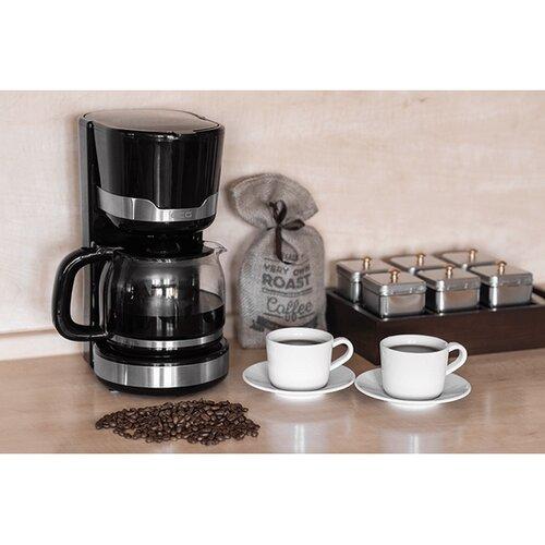 ECG KP 2115 kávovar 1,5 l, čierna