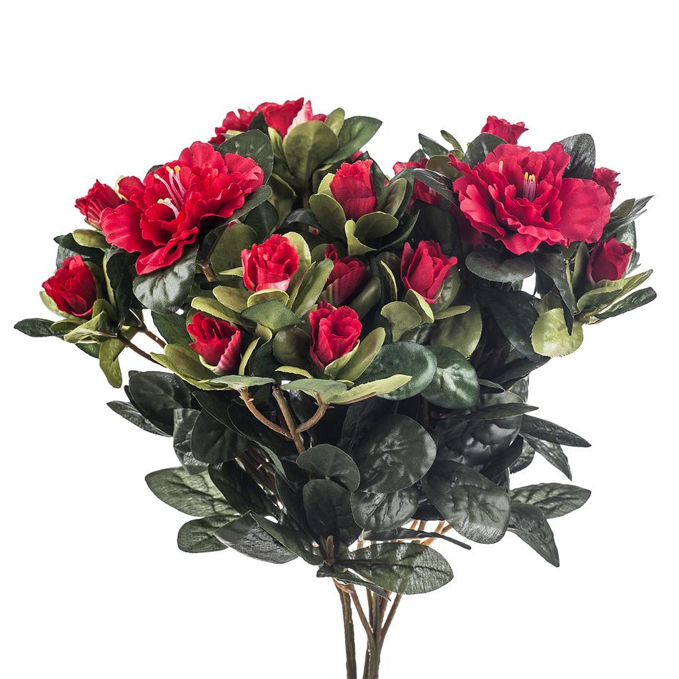 Umelá kvetina azalka, červená, HTH