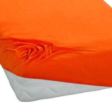 BedTex jersey prostěradlo oranžová, 180 x 200 cm