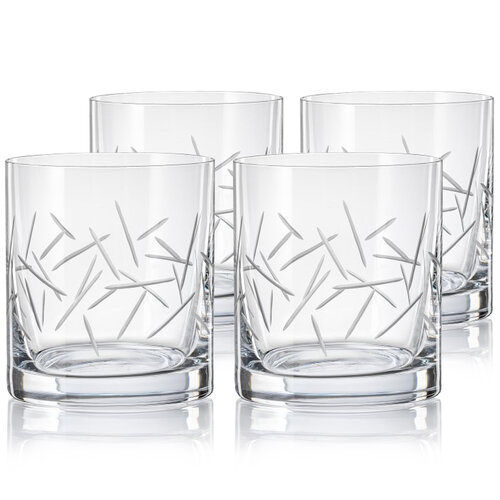 Crystalex CXBR786 4-dielna sada pohárov na whisky, 280 ml