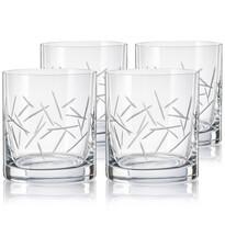 Crystalex CXBR786 4-częściowy komplet szklanek na whisky, 280 ml