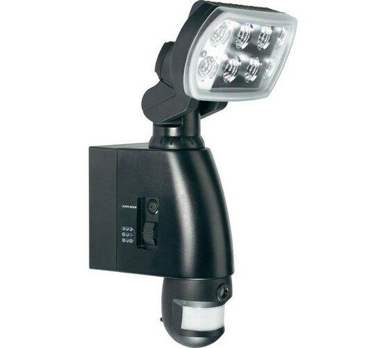 Kamera s LED reflektorem a PIR senzorem, Conrad, černá, 18 x 35 x 25 cm