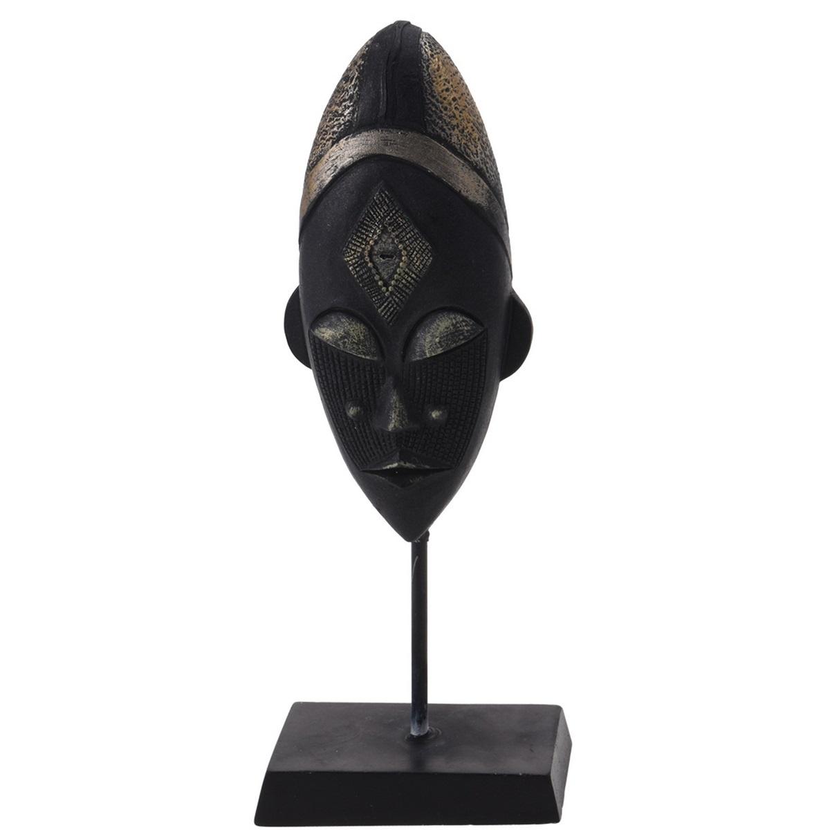 Koopman Dekorační africká maska Meru, 21 cm