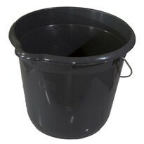 Vedro 12 litrov, okrúhle, sivá