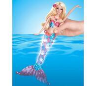 Barbie Svítící mořská panna Mattel, červená, červená