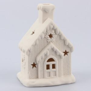 Porcelánový domeček s LED světly