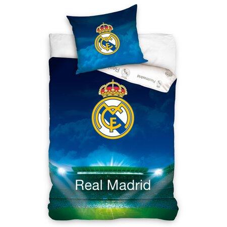 Pościel bawełniana Real Madrid Stadion, 140 x 200 cm, 70 x 90 cm