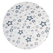 Plastový ubrus Vánoční hvězda, modrá