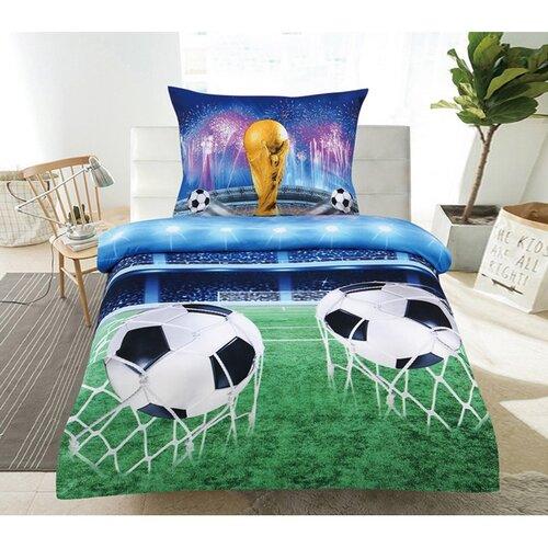Obliečky Futbal 3D, 140 x 200 cm, 70 x 90 cm