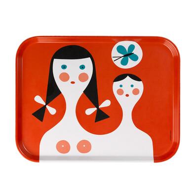 Tác Mother and Child 46 x 35,5 cm, červený