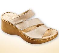 Orto Plus Dámské pantofle na klínku vel. 39 béžové