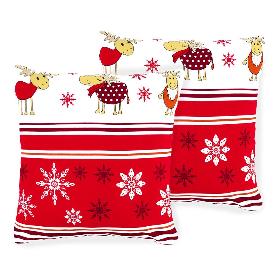 4Home Vianočná obliečka na vankúšik Sobíky, 40 x 40 cm