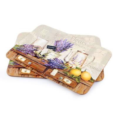 Korkové prostírání Levandule de Provence, 29 x 21 cm, sada 2 ks