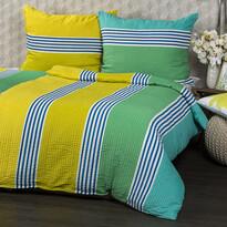 Lenjerie de pat din crep Bruno Azuro, 140 x 200 cm, 70 x 90 cm