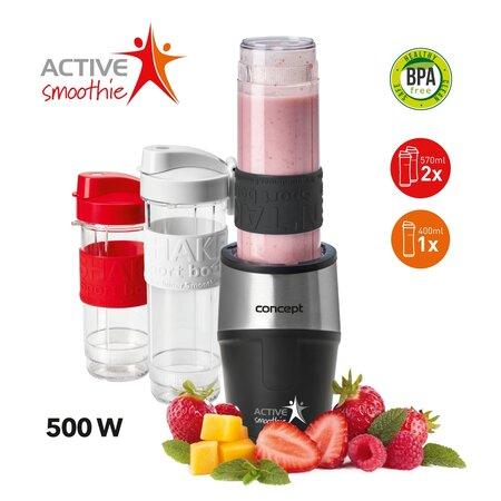 Concept SM3385 Smoothie maker  Active Smoothie 500 W černá 2 x 570 ml + 400 ml