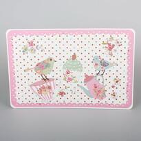Madaras alátét, rózsaszín, 43 x 28 cm