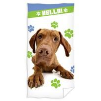 Ręcznik Hello - Pies, 70 x 140 cm