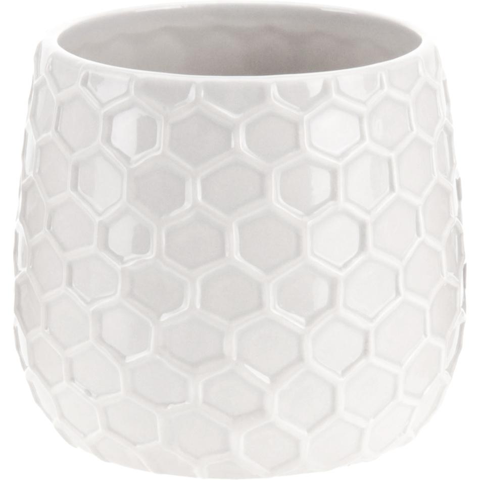 Keramický květináč Honey, bílá