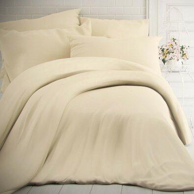 Kvalitex pamut ágynemű, tejszín, 220 x 200 cm, 2 db 70 x 90 cm