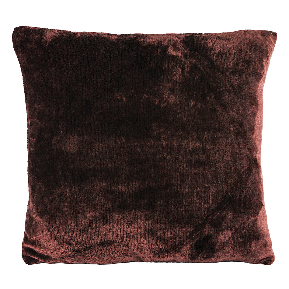 Jahu Vankúšik Mikroplyš tmavo hnedá, 40 x 40 cm
