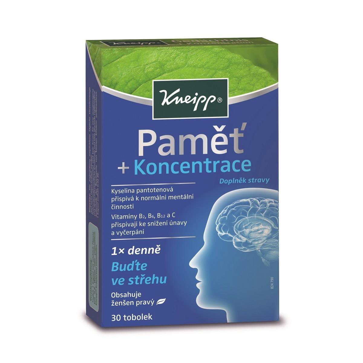 Kneipp Doplněk stravy Paměť a koncentrace, 30 tob.