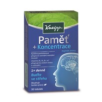 Kneipp Doplnok stravy Pamäť a koncentrácia, 30 tob.