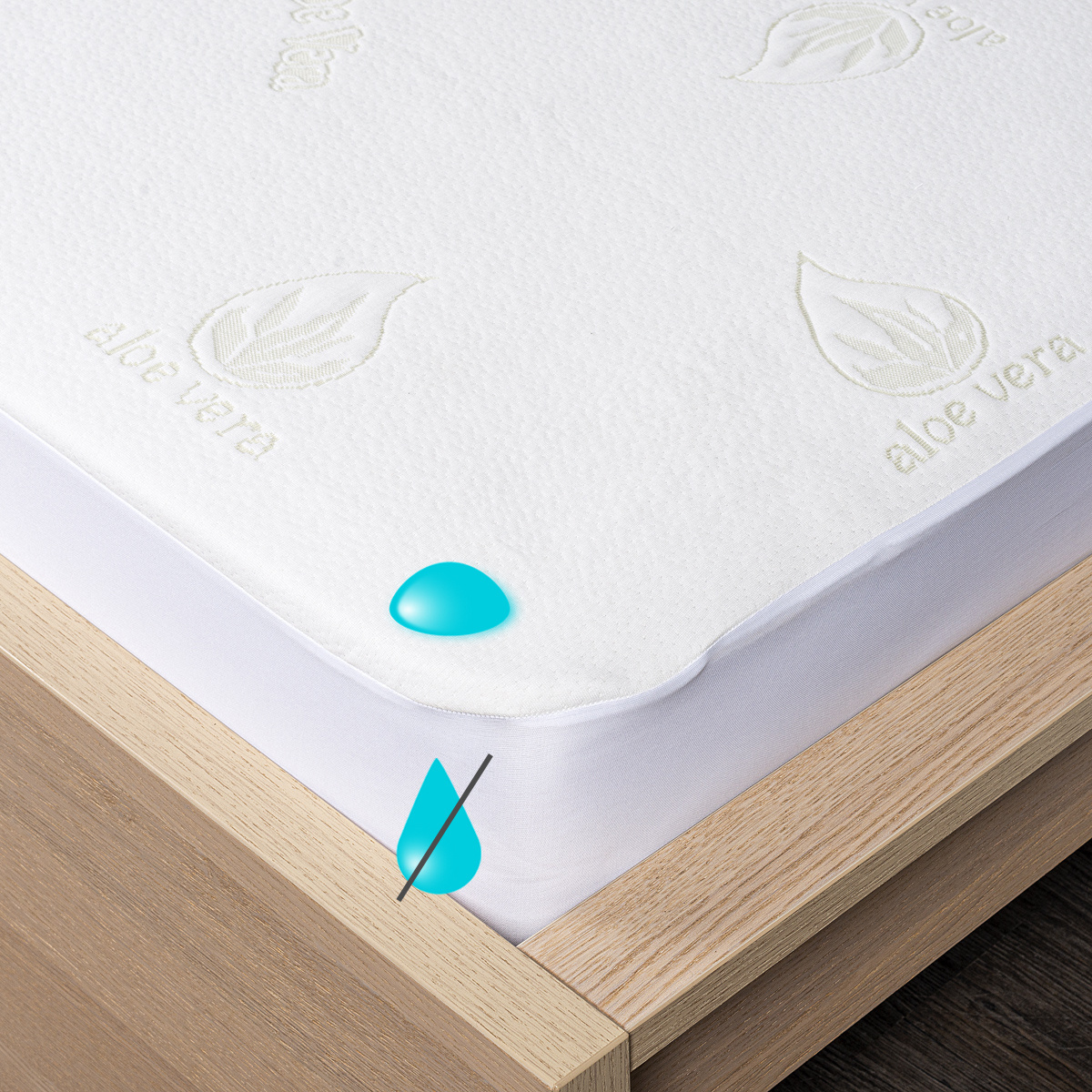 4Home Aloe Vera Nepropustný chránič matrace s lemem, 90 x 200 cm