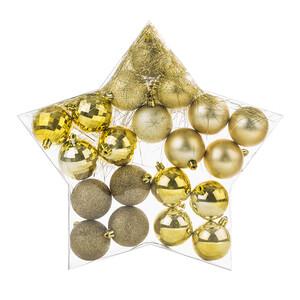 Vánoční koule zlatá, 20 ks