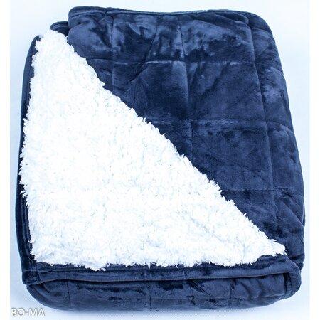 Beránková deka Sandra tmavě modrá, 150 x 200 cm