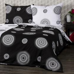Lenjerie pat 2 pers. 4Home Tango din bumbac, alb + negru, 220 x 200 cm, 2 buc. 70 x 90 cm