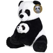 Plyšový medvedík Panda s mláďaťom, 27 cm