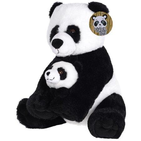 Koopman Plyšový medvedík Panda s mláďaťom, 27 cm