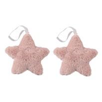 Altom Sada plyšových vánočních ozdob Stars 15 cm, 2 ks, růžová