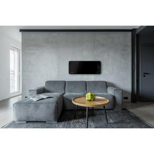 Concept KS4010 skleněný konvektor s montáží na zeď, černá